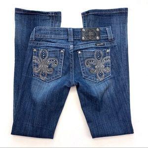 Miss Me Fleur-de-Lis JP5145B2 Boot Jeans